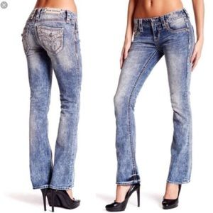 🆕 Rock Revival jeweled bootleg Luz jeans- size 24